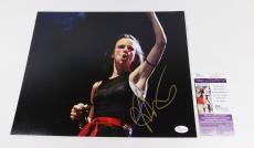 Juliette Lewis Signed 11 x 14 Color Photo Pose #1  JSA Auto