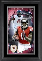Julio Jones Atlanta Falcons 10'' x 18'' Vertical Framed Photograph with Piece of Game-Used Football - Limited Edition of 250