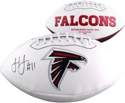 Julio Jones Atlanta Falcons Autographed White Panel Football