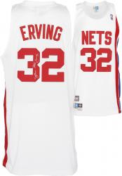 "adidas Julius Erving New Jersey Nets Autographed Swingman Jersey with ""Dr. J"" Inscription - White"