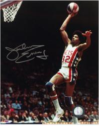 "New Jersey Nets Julius Erving Autographed 8"" x 10"" Photo - Mounted Memories"