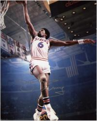 "Julius Erving Philadelphia 76ers Dunking Autographed 8"" x 10"" Photo"