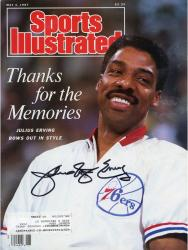 Julius Erving Brooklyn Nets Autographed Sports Illustrated Thanks for the Memories Magazine
