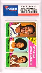 Julius Erving New Jersey Nets 1975-76 Topps #221 Card