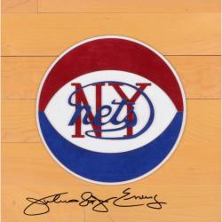 Julius Erving New York Nets Autographed 12'' x 12'' Floor Piece