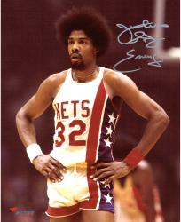 Julius Erving New York Nets Autographed 8'' x 10'' Standing with Hands on Hip Photograph