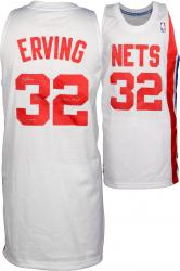 "Julius Erving New York Nets Autographed Adidas Swingman White Jersey with ""3X ABA MVP"" Inscription"