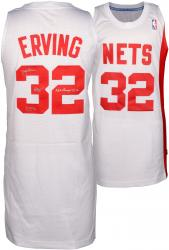 "Julius Erving New York Nets Autographed Adidas Swingman White Jersey with ""74 &76 ABA Champs"" Inscription"