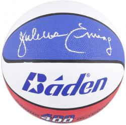 Julius Erving Philadelphia 76ers Autographed Baden Indoor/Outdoor ABA Basketball - Mounted Memories