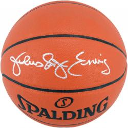 Julius Erving Autographed Basketball - Official Game Ball