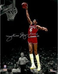 "Julius Erving Philiadelphia 76ers Autographed 11"" x 14"" Dunk Spotlight Photograph"