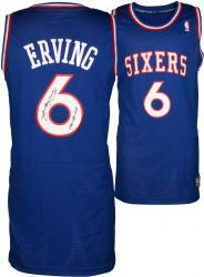 "Julius Erving Philiadelphia 76ers Autographed Adidas Swingman Blue Jersey with ""1981 NBA MVP"" Inscription"