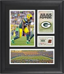 Julius Peppers Green Bay Packers Framed 15'' x 17'' Collage with Game-Used Football