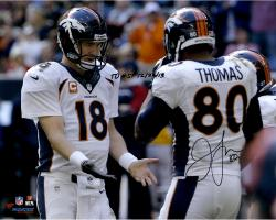 Julius Thomas Denver Broncos Autographed 16'' x 20'' Low Five With Peyton Manning Photograph with TD #51 12/23/13 Inscription