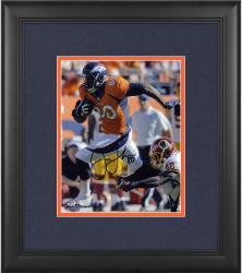 "Julius Thomas Denver Broncos Framed Autographed 8"" x 10"" Orange Jersey vs Washington Redskins Photograph"