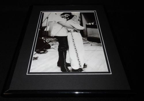 June Carter & Johnny Cash Framed 11x14 Photo Display
