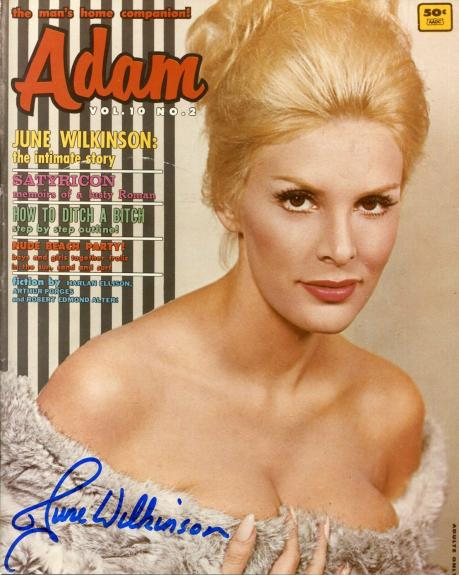 June Wilkinson Playboy Model Batman Villian Signed Autograph Photo