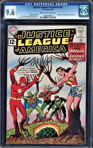 Justice League Of America #9 Cgc 9.6 Highest Graded Cgc #1190756008