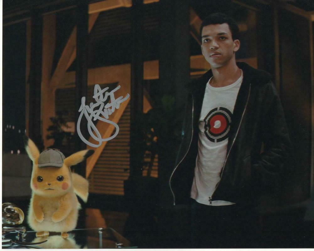 Justice Smith Signed Autograph 8x10 Photo Detective Pikachu
