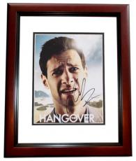 Justin Bartha Signed - Autographed HANGOVER 8x10 inch Photo MAHOGANY CUSTOM FRAME - Guaranteed to pass PSA or JSA
