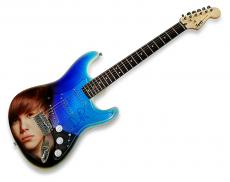 Justin Bieber Autographed Signed Airbrushed Guitar UACC RD