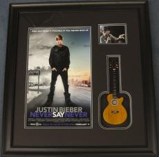 Justin Bieber Framed Poster with Mini Guitar