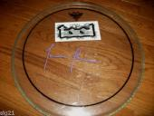 "Justin Chancellor Tool Signed Autographed  16"" Drumhead PSA Beckett Guaranteed"