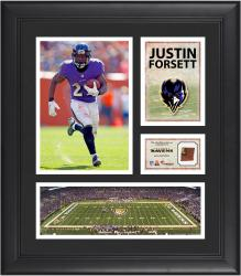 Justin Forsett Baltimore Ravens Framed 15'' x 17'' Collage with Game-Used Football