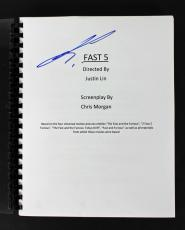Justin Lin Signed Fast Five Movie Script Autographed BAS #B13179