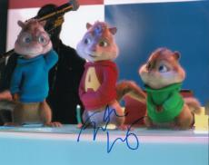 Justin Long signed Alvin and the Chipmunks 8x10 movie photo w/coa w/Proof #JL3