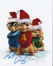 Justin Long signed Alvin and the Chipmunks 8x10 movie photo w/coa w/Proof #JL6
