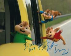 Justin Long signed Alvin and The Chipmunks 8x10 photo proof autographed w/coa #2