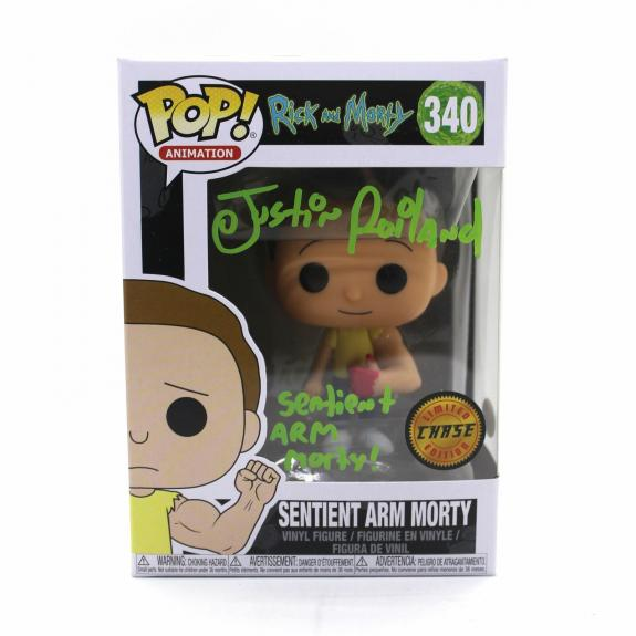 Justin Roiland Autograph Funko Pop Rick and Morty CHASE Sentient Arm Signed JSA