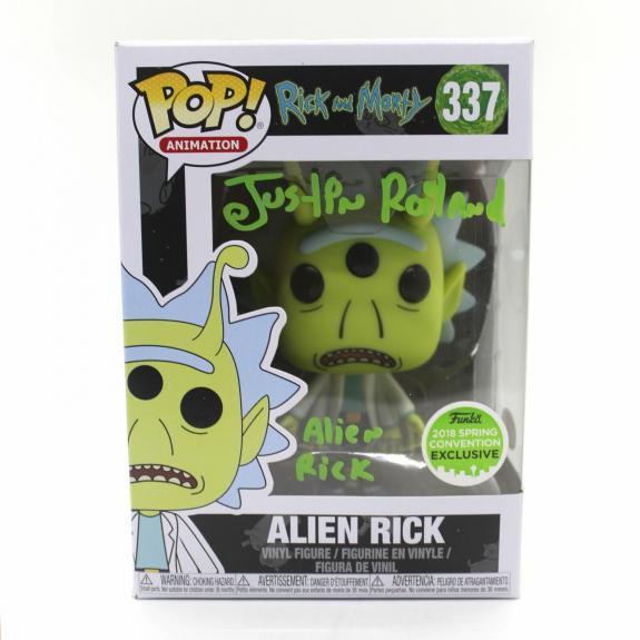 Justin Roiland Autograph Funko Pop Rick and Morty ECCC Alien Signed JSA COA Z1