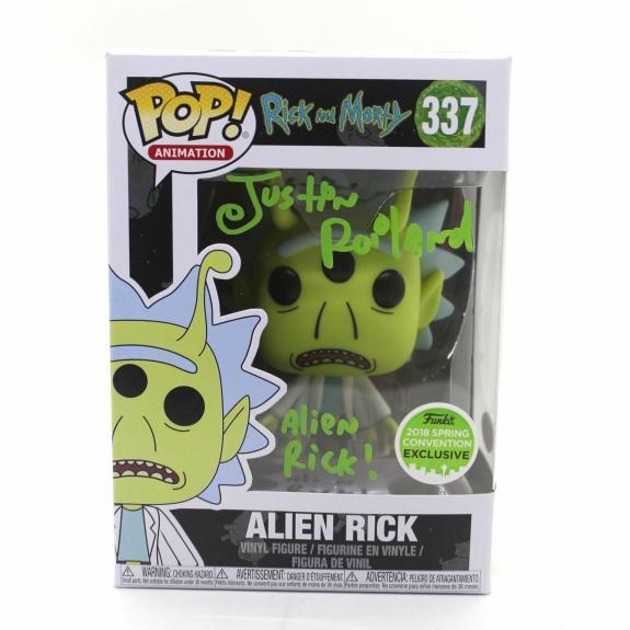 Justin Roiland Autograph Funko Pop Rick and Morty ECCC Alien Signed JSA COA Z2