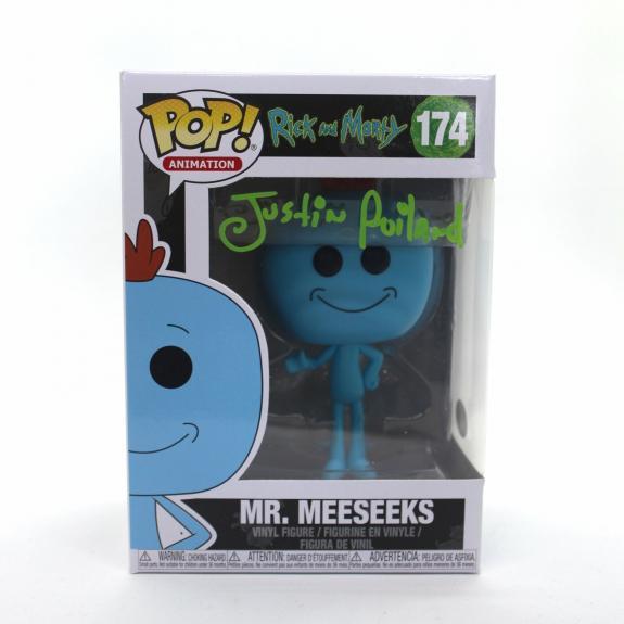 Justin Roiland Autograph Funko Pop Rick and Morty Mr. Meeseeks Signed JSA COA Z4