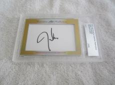 Justin Timberlake 2017 Leaf Cut Signature Masterpiece signed auto card 1/1 JSA