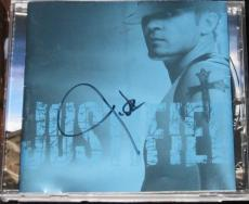 Justin Timberlake Actor Pop Nsync Signed Justified Cd Cover Jsa #q41206 Music
