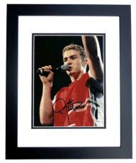 Justin Timberlake Autographed Concert 8x10 Photo BLACK CUSTOM FRAME