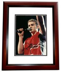 Justin Timberlake Autographed Concert 8x10 Photo MAHOGANY CUSTOM FRAME