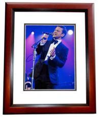 Justin Timberlake Signed - Autographed Concert 8x10 Photo MAHOGANY CUSTOM FRAME