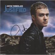 Justin Timberlake Autographed Justified Album - JSA