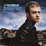 Justin Timberlake Autographed Justified Vinyl Album Cover - Beckett