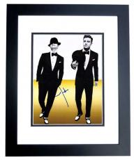 Justin Timberlake Autographed Sexy 11x14 Photo BLACK CUSTOM FRAME