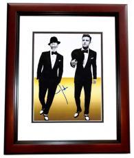 Justin Timberlake Autographed Sexy 11x14 Photo MAHOGANY CUSTOM FRAME