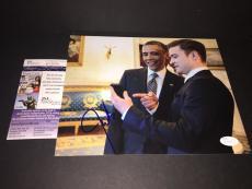 Justin Timberlake Autographed Signed 8x10 Picture JSA COA w Barack Obama