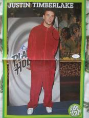 Justin Timberlake autographed signed auto mini vintage 10x16 foldout poster JSA