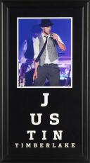 """Justin Timberlake Deluxe Framed Autographed 11"""" x 14"""" Singing in Concert Photograph - PSA/DNA COA"""
