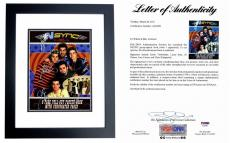 Justin Timberlake, JC Chasez, Lance Bass, Joey Fatone, and Chris Kirkpatrick Signed - Autographed 'Nsync 11x14 inch Photo Book Cover - NO STRINGS ATTACHED - BLACK CUSTOM FRAME - PSA/DNA Certificate of Authenticity (COA) - FULL Letter