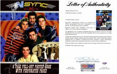 Justin Timberlake, JC Chasez, Lance Bass, Joey Fatone, and Chris Kirkpatrick Signed - Autographed 'NSync 11x14 inch Photo Book - NO STRINGS ATTACHED Tour Book - PSA/DNA Certificate of Authenticity (COA) - FULL Letter